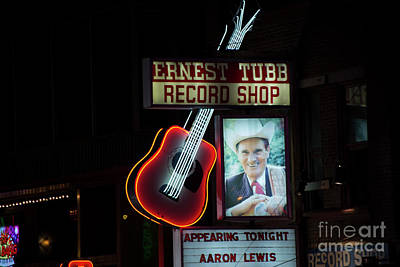 Country And Western Photograph - Ernest Tubb Record Shop by David Bearden