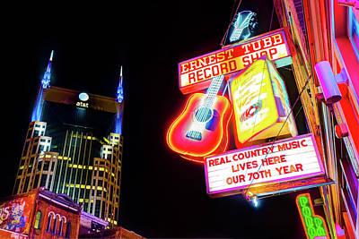 Photograph - Ernest Tubb Record Shop - Downtown Nashville  by Gregory Ballos