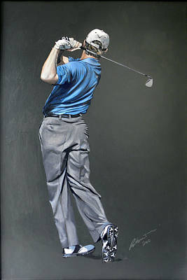 Golfer Painting - Ernie Els by Mark Robinson