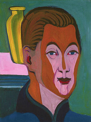 Painting - Ernst Ludwig Kirchner Self Portrait 1925 by Ernst Ludwig Kirchner