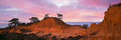 Eroded Hill With Ocean Art Print
