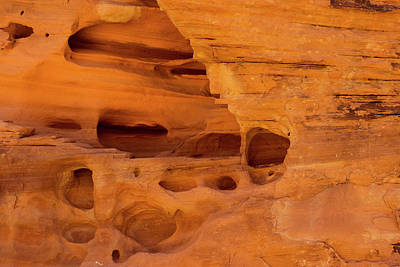 Photograph - Eroded Sandstone Valley Of Fire by Frank Wilson