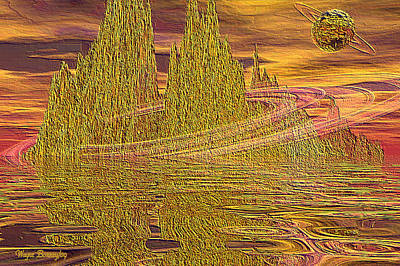 Eroding Gold Art Print by Wayne Bonney