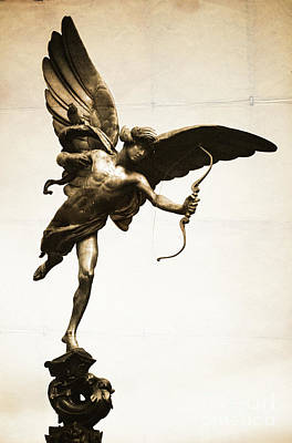 Eros Statue Art Print by Neil Overy