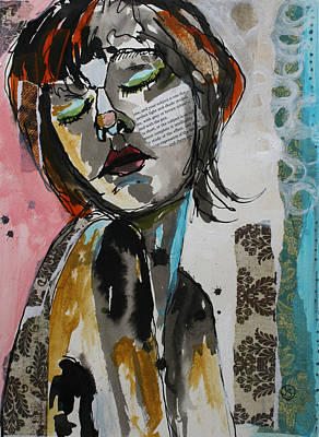 Portrait Mixed Media Painting - Erotic Dream Land by Jane Spakowsky