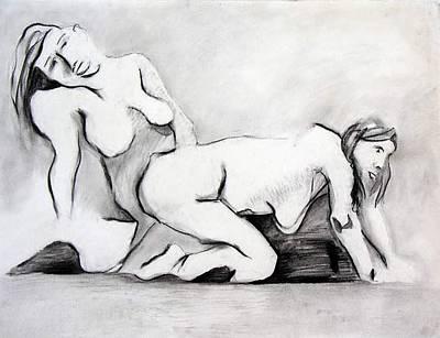 Brad Wilson Drawing - Erotica by Brad Wilson