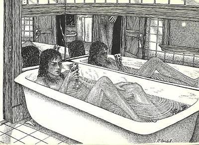 Erotic Drawing - Erotique by Jacki Randall
