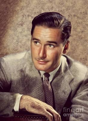 Musician Royalty-Free and Rights-Managed Images - Errol Flynn, Actor by Mary Bassett