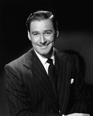 Errol Flynn, Ca. 1940s Art Print by Everett