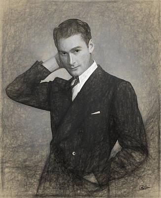 Errol Flynn Draw Art Print by Quim Abella