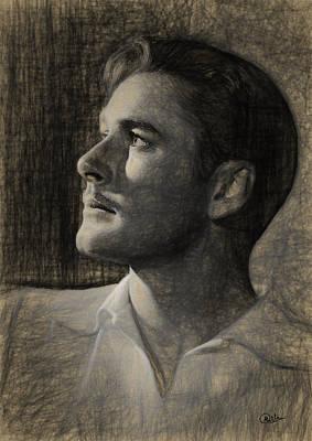 Errol Flynn Sketch Art Print by Quim Abella