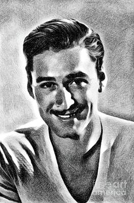 Errol Flynn, Vintage Actor By Js Art Print