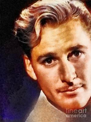 Errol Flynn, Vintage Hollywood Legend Art Print