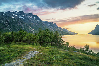 Ersfjord Sunset Art Print