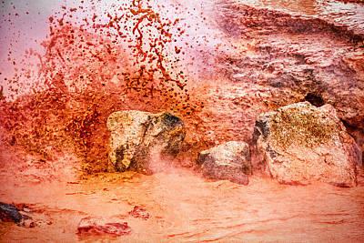 Photograph - Erupting Mudpot - Yellowstone by Stuart Litoff