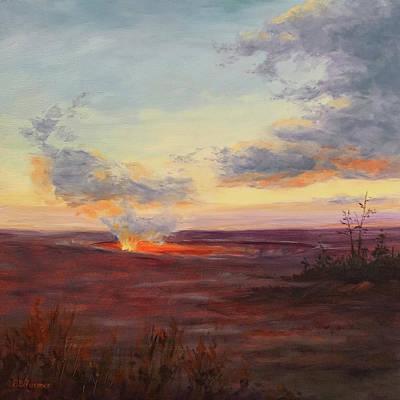 Eruption, Hale Ma'uma'u Crater, Hawaii Art Print by Elaine Farmer