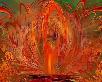 Digital Art - Eruption Fire by rd Erickson