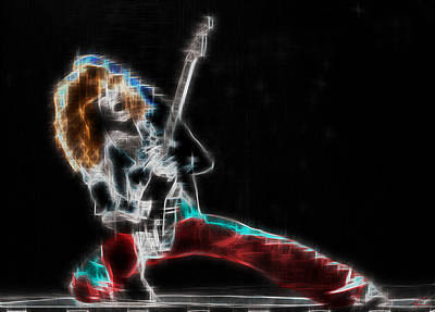 Van Halen Digital Art - Eruption by Kenneth Armand Johnson