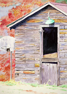 Painting - Erwin Road Barn by Christopher Reid