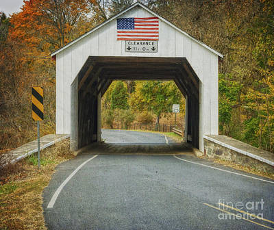 Photograph - Erwinna Covered Bridge by Debra Fedchin