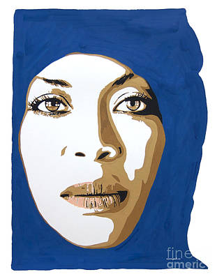 Painting - Erykah Badu. Mama's Gun. by Nancy Mergybrower
