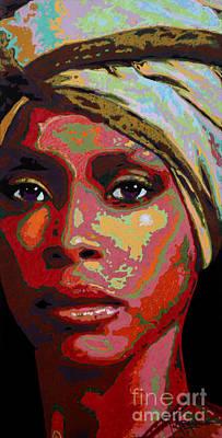 Painting - Erykah by Maria Arango