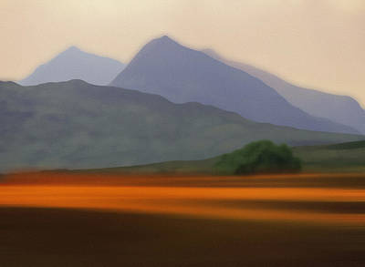 Photograph - Eryri The Snowdonia Mountain Range by Mal Bray