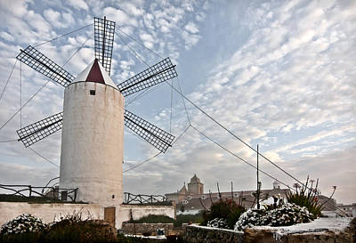 Photograph - Es Castell Town Mill 2 by Pedro Cardona