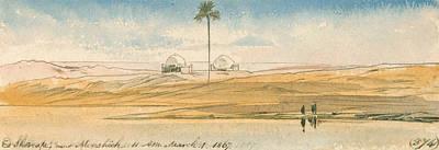 Drawing - Es Shoorafa, Near Mensheeh by Edward Lear