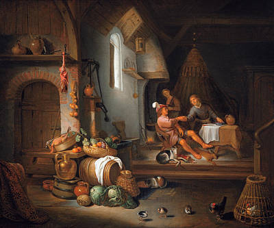 Esau Selling His Birthright Art Print by Hendrik Martenszoon Sorgh