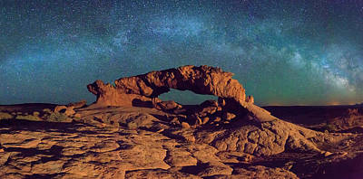 Photograph - Escalante Arch With Stars by Johnny Adolphson