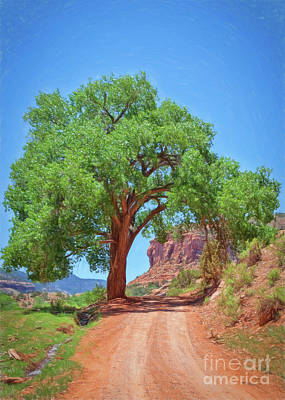 Quietness Painting - Escalante Canyon Archway by Janice Rae Pariza