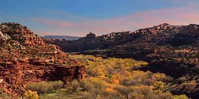 Photograph - Escalante Canyon Overlook - Utah by Thomas Schoeller