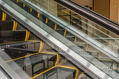 Photograph - Escalator Abstract by Sue Smith