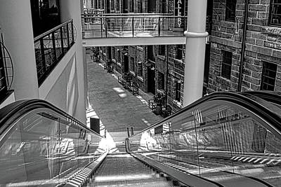 Photograph - Escalator Going Down In Sydney by Kirsten Giving