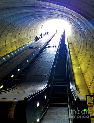 Photograph - Escalator In Washington Dc Potomac Ave by Susan Vineyard