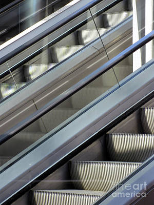 Photograph - Escalator Pair by Karen Sydney
