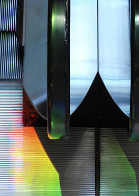 Photograph - Escalator Rainbow by Ross Odom