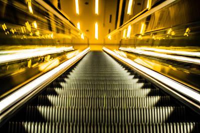 Photograph - Escalator by Stephen Holst