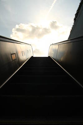 Escalator To Heaven Art Print by David Paul Murray