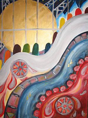 escalators at WTC NY Art Print by Krisztina Asztalos