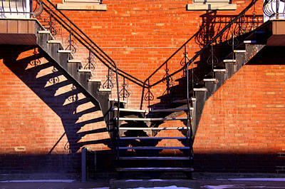 Lachine Photograph - Escaliers A Paradis. Stairway's To Heaven  by Russell Styles