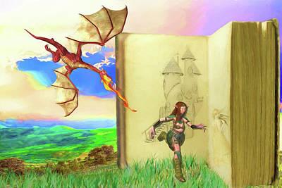 Digital Art - Escape From A Fairy Tale by John Haldane