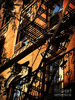 Photograph - Escape From New York - New York City Fire Escapes by Miriam Danar