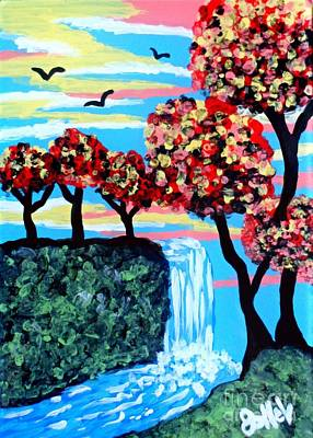 Mixed Media - Escape To Serenity by JoNeL Art