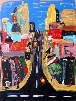 Art Print featuring the painting Escape To The City by Mary Carol Williams