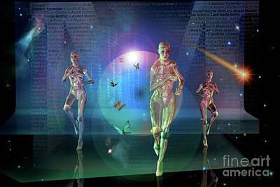 Digital Art - Escaping The  Matrix by Shadowlea Is