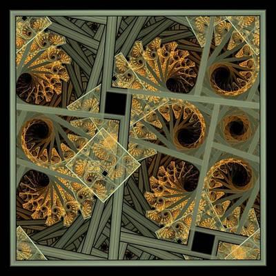 Escher Grey-fern Art Print
