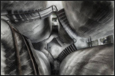 Winter Animals Rights Managed Images - Escher Stairwell Royalty-Free Image by Mario Carini