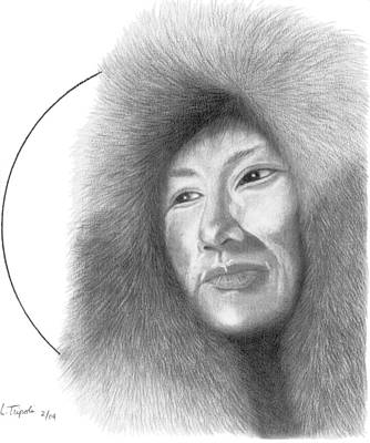 Drawing - Eskimo by Lawrence Tripoli
